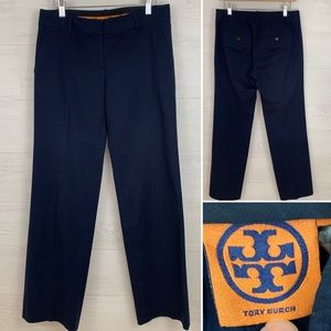 Tory Burch Navy Career Wear Pants, Women's Size 4